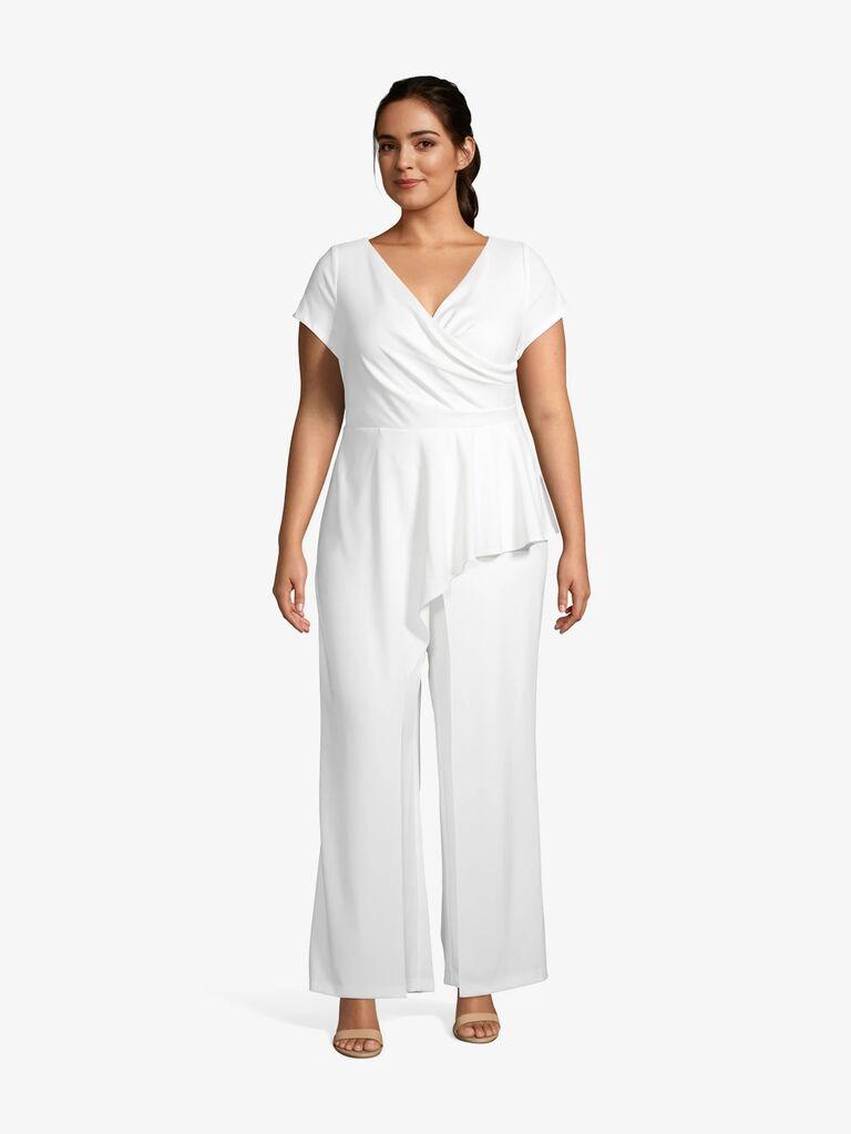 white peplum jumpsuit