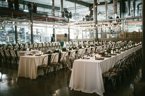 Industrial Wedding Reception at at Craft Brewery