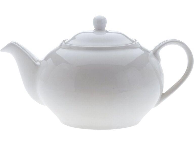 white basics teapot