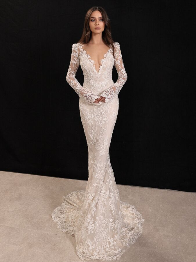 Gala by Galia Lahav embroidered lace fitted wedding dress