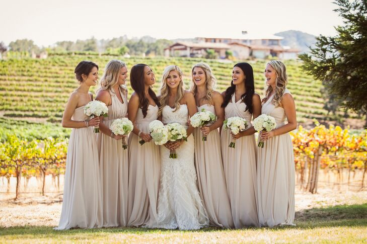 Beige Jenny Yoo Bridesmaid Dresses