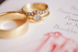 Gold Stacked Wedding Rings