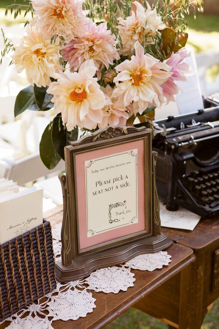 Vintage Wedding Sign