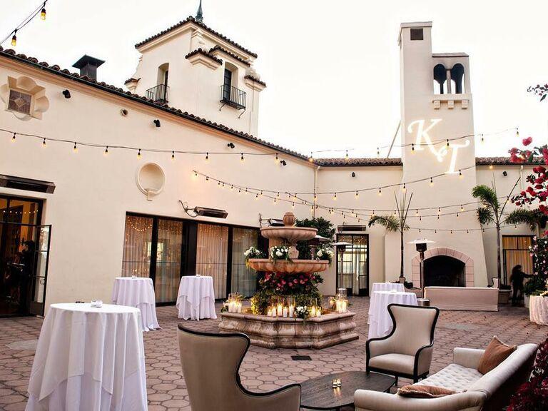 Wedding venue in Malibu, California.