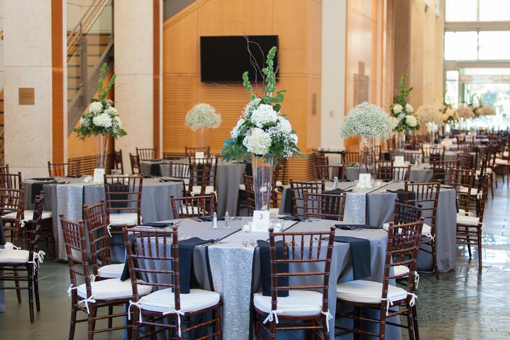 The centerpieces were filled with hydrangeas and bells of Ireland.