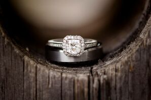 Cushion Square-Cut Engagement Ring