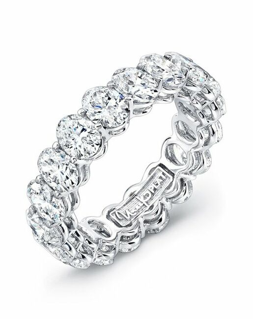 Uneek Fine Jewelry ETOV400 Platinum Wedding Ring
