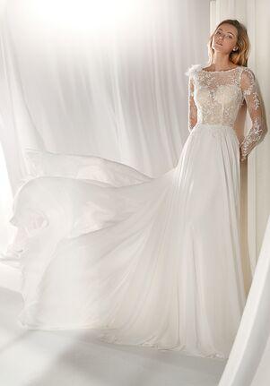 12350f0c Nicole Milano 2019 Collection NIAB19083 Sheath Wedding Dress