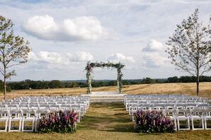 Floral Wedding Arch at Prospect House in Dripping Springs, Texas