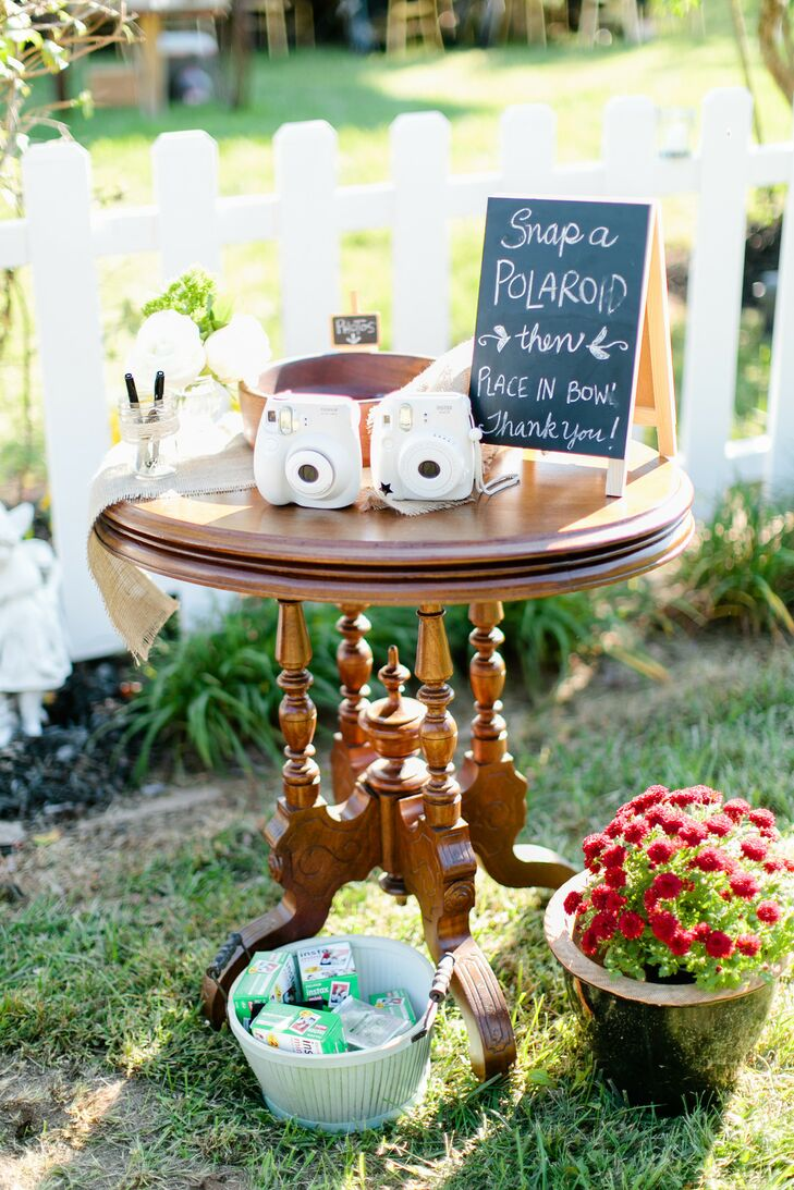 Polaroid Camera Guest Book at Wedding in Springfield, Missouri