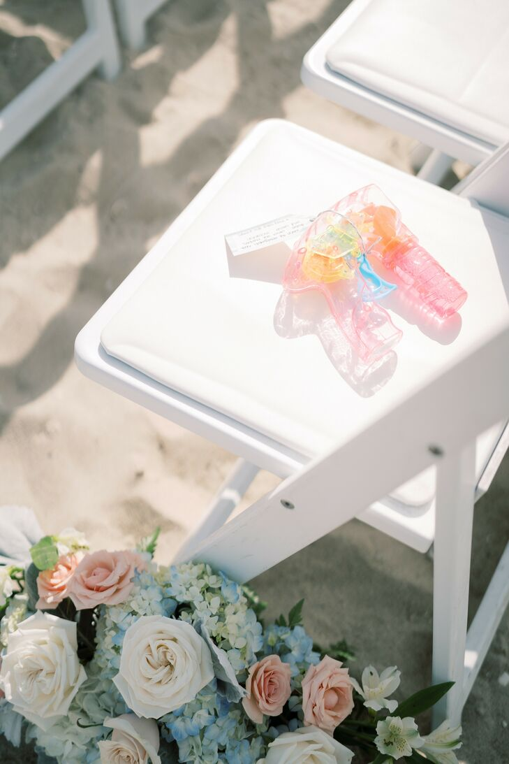 Bubble Shooter for Recessional at Wychmere Beach Club in Harwich Port, Massachusetts