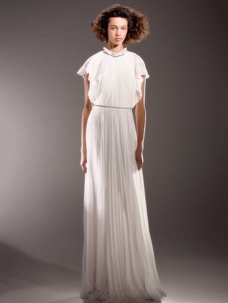 Viktor & Rolf Spring 2020 Bridal Collection pleated wedding dress
