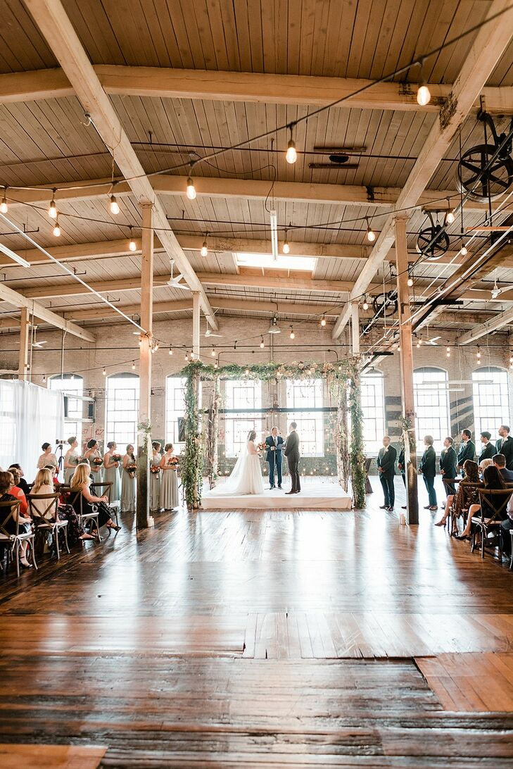 Industrial Indoor Ceremony at The Art Factory in Paterson, New Jersey