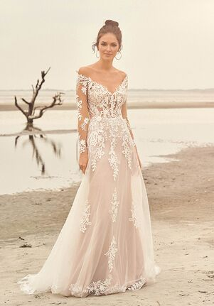 Lillian West 66116 A-Line Wedding Dress