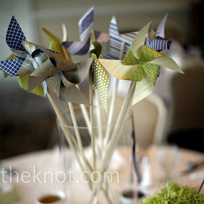 DIY Pinwheel Centerpieces