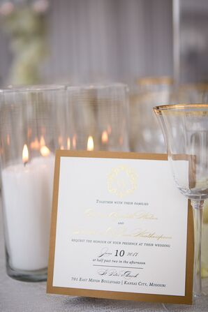 Menus With Gold Accents