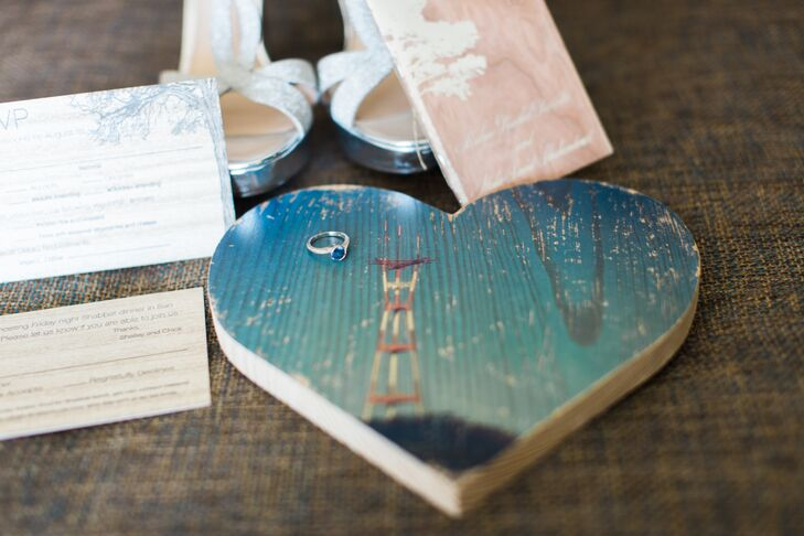 As Kalya prepped for her wedding day, Mike sent her a heart-shaped scene of the Golden Gate Bridge.
