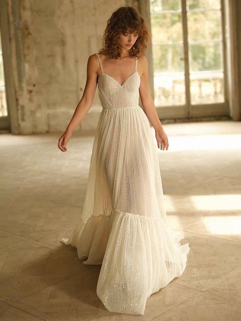 Dana Harel A-line dress with spaghetti straps