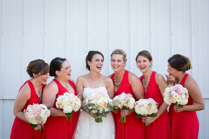 Ann Taylor Loft Red Bridesmaid Dresses