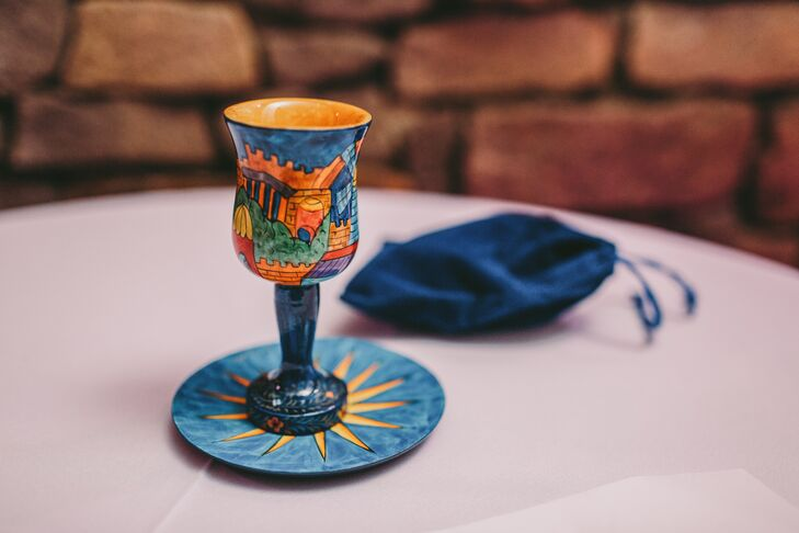 Hand-Painted Kiddush Cup
