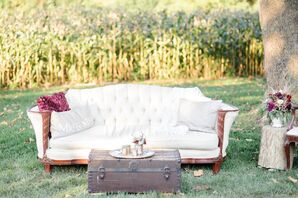 Ivory Tufted Lounge Furniture Vignette