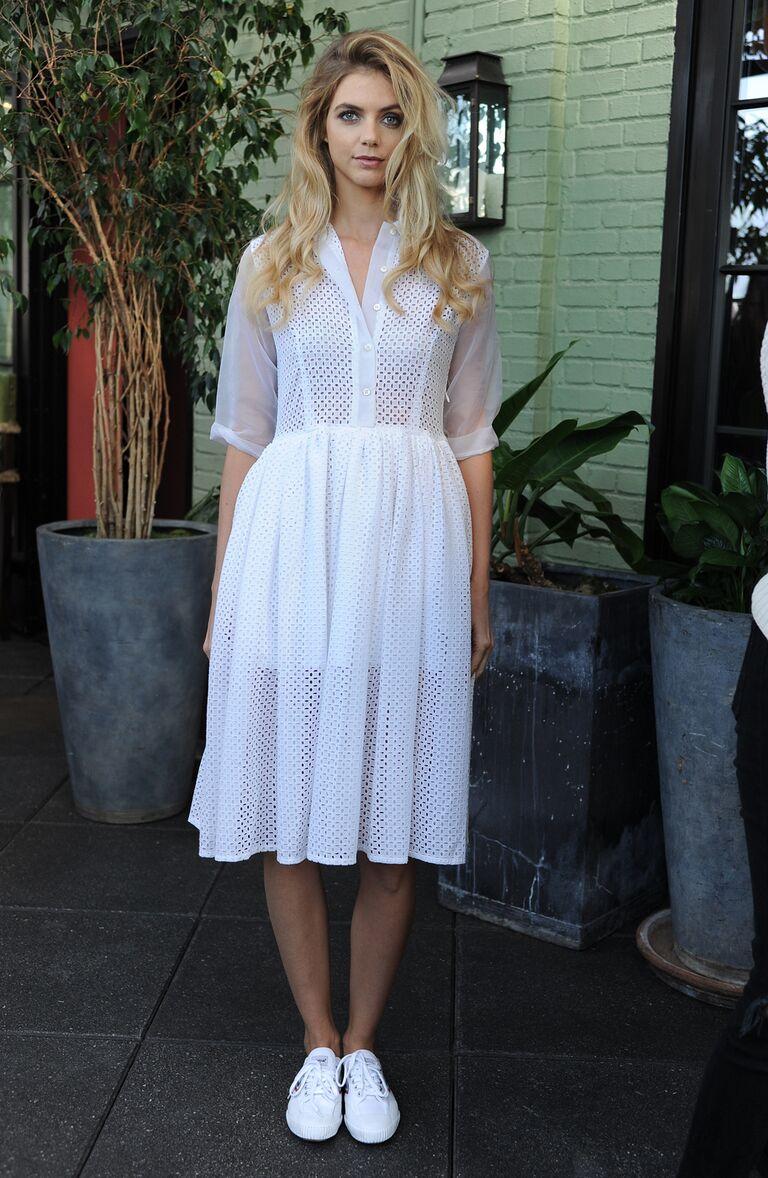 Sandal for a Tea Length Wedding Dress