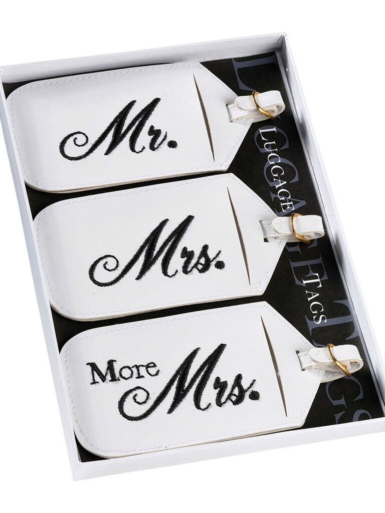 Mr. and Mrs. Luggage Tags registry gift