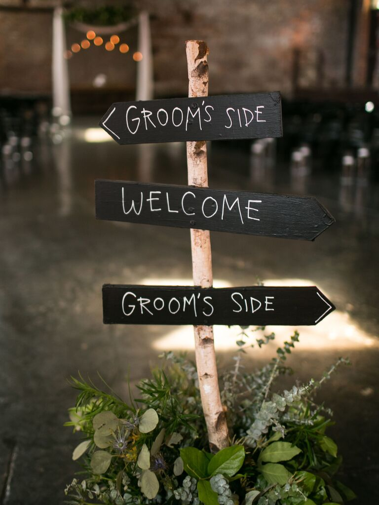 rustic wood wedding signs for rustic ceremony