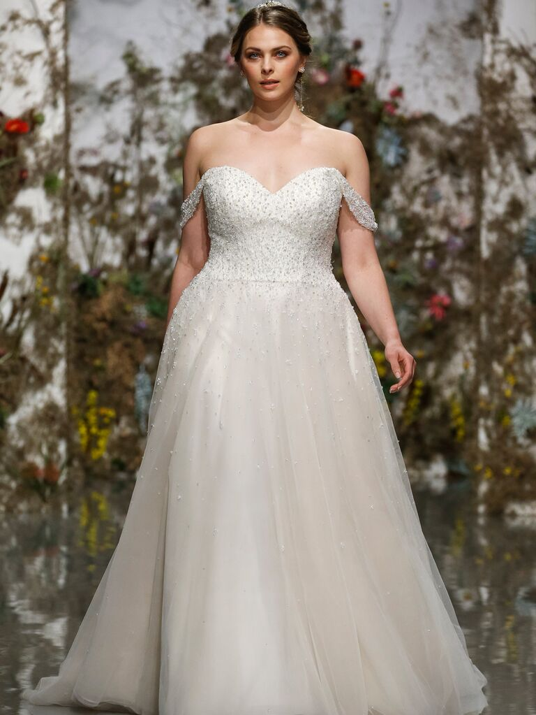 Morilee by Madeline Gardner Spring 2020 off-the-shoulder wedding dress