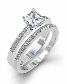 Zeghani Princess Cut Engagement Ring