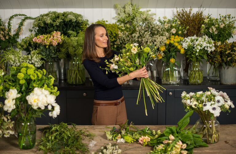 Florist Philippa Craddock is pictured in her studio on March 29, 2018 in London, England.