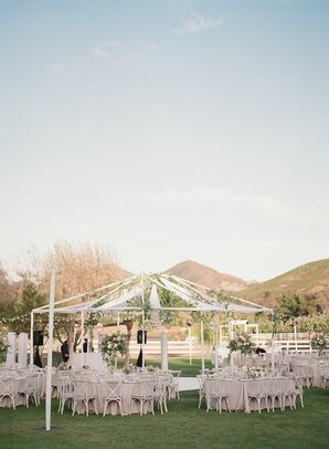 Open-Air Tent for Reception at Saddlerock Ranch in Malibu, California