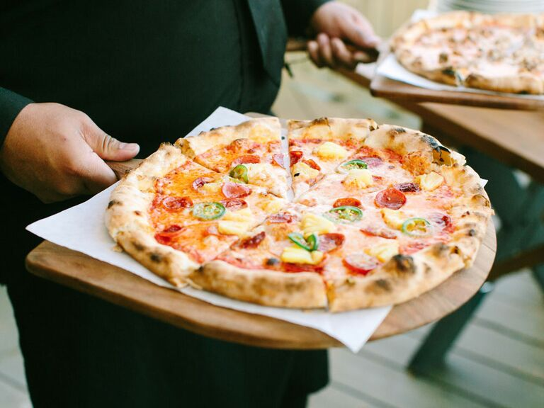 Personal pizzas at bridal shower