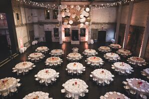 Reception with Round Tables and Balloons