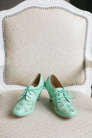 Mint Green Bridal Booties