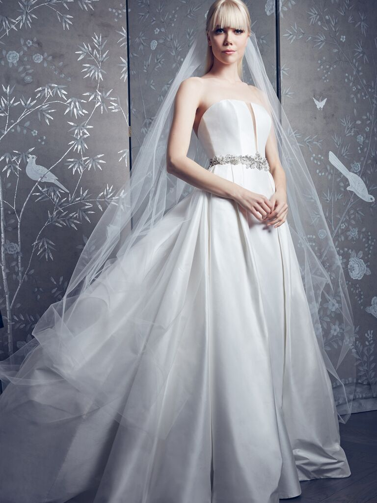Legends by Romona Keveza Spring 2020 Bridal Collection strapless belted A-line wedding dress