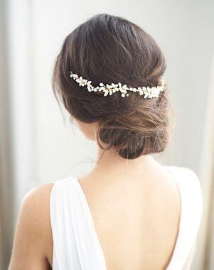 Dareth Colburn Dahlia Freshwater Pearl Hair Vine (TI-3340) Silver Headband