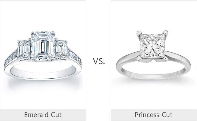 Emerald Cut Vs Princess Cut Weddingmadness