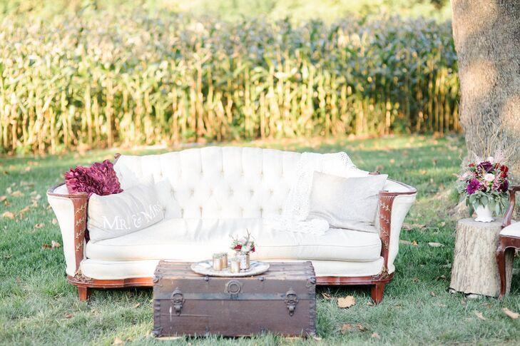 Ivory Tufted Lounge Furniture Vignette