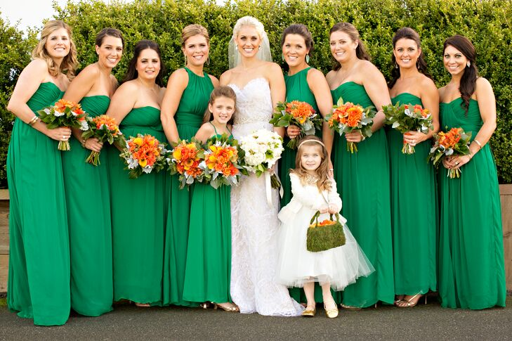 7a82597e8c72 Emerald Green Bridesmaid Dresses