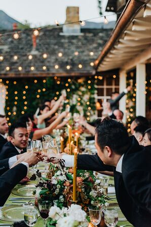 Guests Toasting at Dining Table