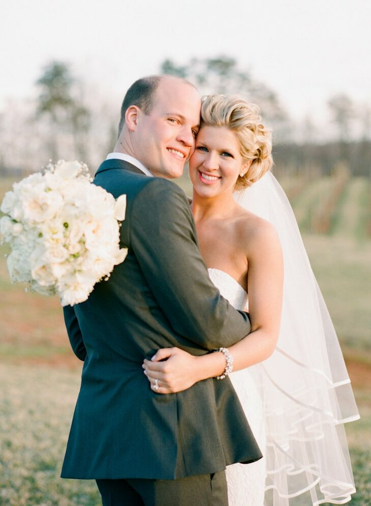 Christie and Steve let the natural beauty of their farm and vineyard location take center stage at their wedding in North Garden.