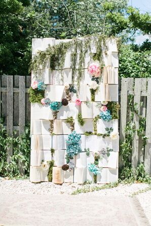 Vintage Book Ceremony Backdrop