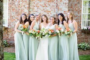 Sage Green Chiffon Bridesmaid Dresses