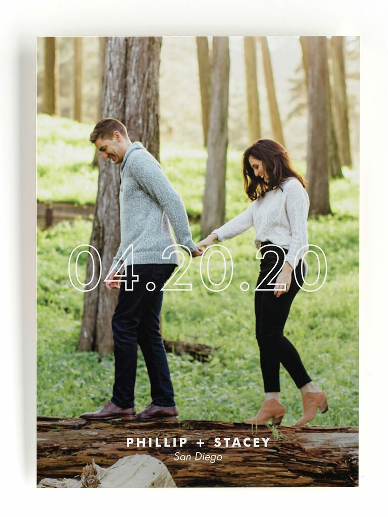 Simple and unique save the date