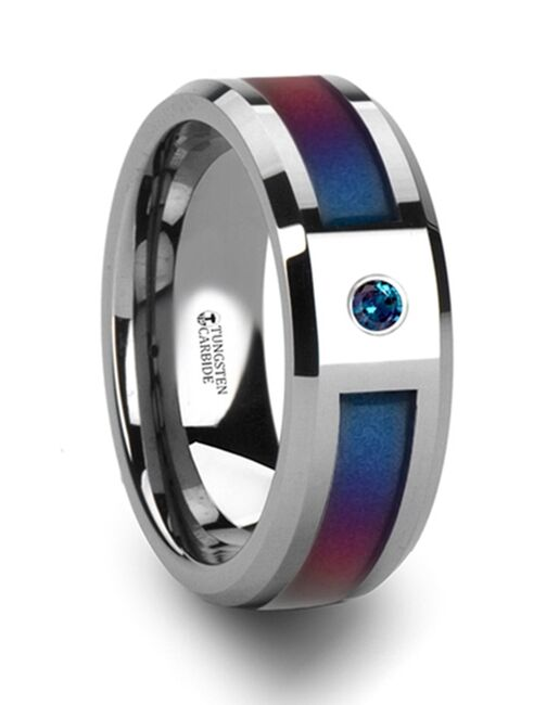 Mens Tungsten Wedding Bands 3069-TCPI Tungsten Wedding Ring