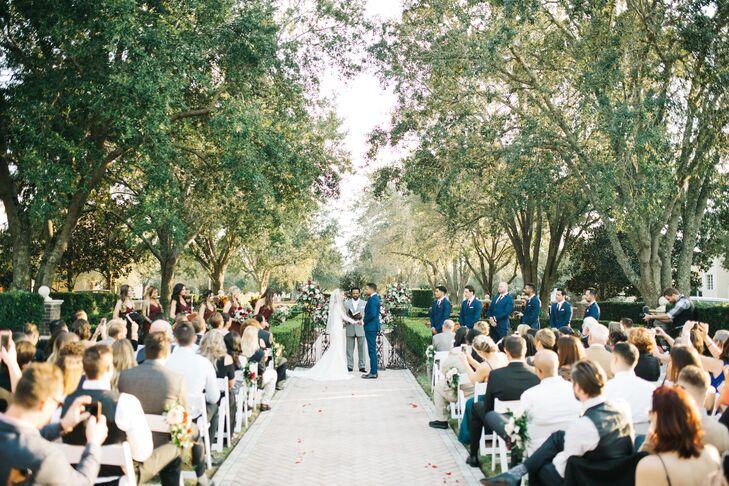 Outdoor Wedding Ceremony Under Trees