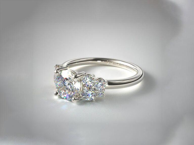 James Allen diamond medley engagement ring in 14K white gold