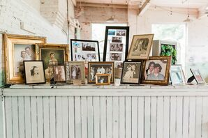 Vintage Photo Display with Mismatched Frames