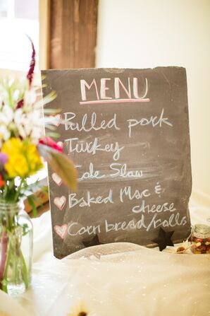 DIY Chalkboard Menu With Southern Food